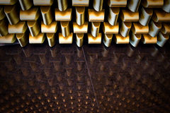 Golden pattern reflection Royalty Free Stock Photos