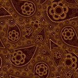 Golden Pattern. Seamless golden background - exquisite vector pattern Stock Photo