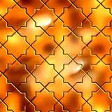Golden Pattern. Seamless Tileable Texture. Stock Image