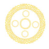 Golden pattern set Royalty Free Stock Photography