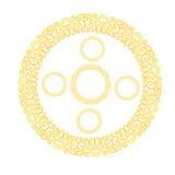 Golden pattern set. Vector illustration of a golden pattern design set Royalty Free Stock Photography