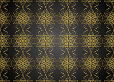 Golden pattern vintage backgrounds. Golden pattern vintage backgrounds for design Stock Image