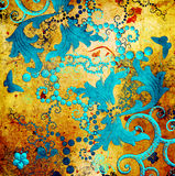 Golden patterns Stock Image