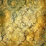 Golden patterns. Beautiful vintage background in golden colors Stock Images