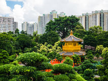 Golden pavilion of absolute perfection in Nan Lian Garden in Chi Stock Photos