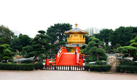 Golden Pavilion Stock Photo