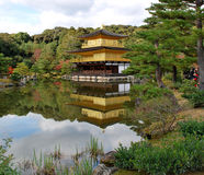 Golden pavilion in atumn Stock Photography