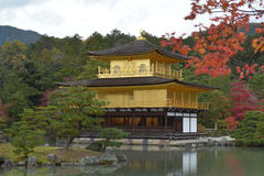 Golden Pavilion in Autumn Royalty Free Stock Photography