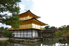 Golden Pavilion in Autumn Royalty Free Stock Photo