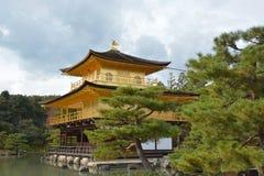 Golden Pavilion in Autumn Stock Image