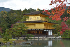 Golden Pavilion in Autumn Royalty Free Stock Image