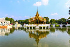 Golden Pavilion, Bang Pa-In Palace in Ayuthaya, Thailand. Royalty Free Stock Image