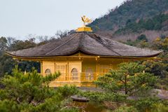 Golden Pavilion. The Golden Pavilion buddhist temple in Kyoto, Japan Stock Image