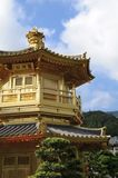 Golden pavilion in chinese garden Royalty Free Stock Photography