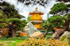 Golden pavilion,  Hong Kong, China Royalty Free Stock Photos