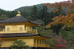 The Golden Pavilion (Kinkaku-ji) of Kyoto Stock Images