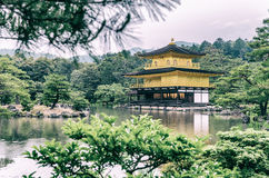 The Golden Pavilion (Kinkaku-ji) of Kyoto, Japan Royalty Free Stock Photo