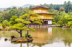 The Golden Pavilion (Kinkaku-ji) of Kyoto, Japan Royalty Free Stock Photography