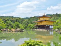 Golden pavilion at Kinkaku-ji temple, Kyoto,Japan. Royalty Free Stock Photography