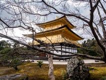 Golden Pavilion Kinkaku-ji temple winter colors royalty free stock images