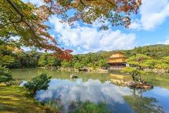 Golden Pavilion Kinkakuji Temple in autumn season at Kyoto Stock Image