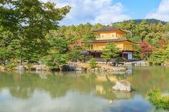 Golden Pavilion Kinkakuji Temple in autumn season at Kyoto Stock Photo