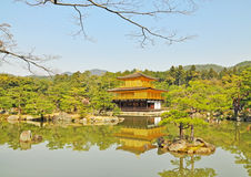 Golden Pavilion at Kinkakuji Temple Royalty Free Stock Images
