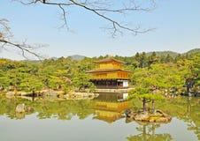 Golden Pavilion at Kinkakuji Temple Royalty Free Stock Images