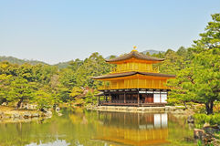 Golden Pavilion at Kinkakuji Temple Royalty Free Stock Photography