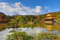 Golden Pavilion Kinkakuji Temple in Kyoto Japan Stock Photography