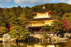 Golden Pavilion Kinkakuji Temple in Kyoto Japan Royalty Free Stock Photo