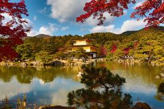 Golden Pavilion Kinkakuji Temple in Kyoto Japan Stock Image
