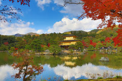 Golden Pavilion Kinkakuji Temple in Kyoto Japan Royalty Free Stock Images