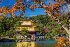 Golden Pavilion Kinkakuji Temple in Kyoto Japan Royalty Free Stock Photo