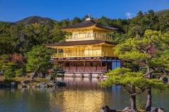 Golden Pavilion Kinkakuji Temple in Kyoto Japan Stock Photo