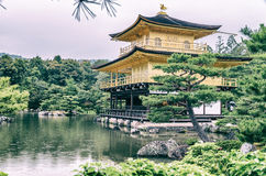 Golden Pavilion at Kinkakuji Temple, Kyoto Japan Stock Photography