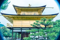 Golden Pavilion at Kinkakuji Temple, Kyoto Japan Royalty Free Stock Image