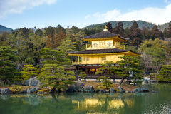 Golden Pavilion ( Kinkakuji temple) Royalty Free Stock Photo