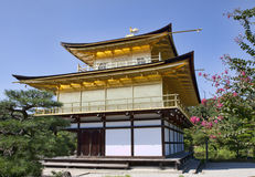 Golden pavilion in Kyoto Royalty Free Stock Images