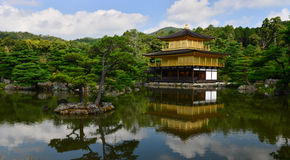 Golden pavilion Kyoto Japan. Golden pavilion castle from the distance stock images