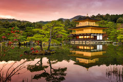 Golden Pavilion of Kyoto, Japan Stock Photos