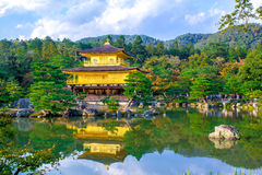 The Golden Pavilion in Kyoto, Japan Stock Photos