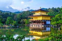 The Golden Pavilion in Kyoto, Japan stock photo