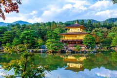 The Golden Pavilion in Kyoto, Japan Royalty Free Stock Images