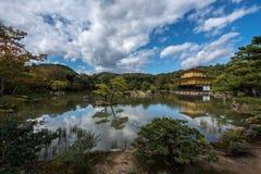 Golden pavilion of Kyoto, japan, known as kinkakuji Stock Photo