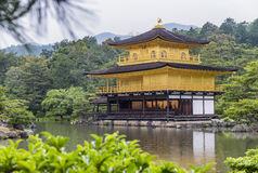 Golden Pavilion, Miromachi Zen temple in Japanes traditional Gar Royalty Free Stock Image