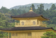 Golden Pavilion, Miromachi Zen temple in Japanes traditional Gar Royalty Free Stock Photo