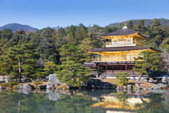 Golden Pavilion ,Miromachi Zen temple Stock Photography