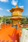 Golden Pavilion in Nan Lian Garden at Diamond Hill in Hong Kong Royalty Free Stock Image