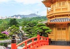 Golden Pavilion in Nan Lian Garden. Hong Kong Royalty Free Stock Image